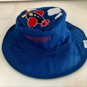 NWT Reversible Airplane/Train hat - size 6mo-2yrs